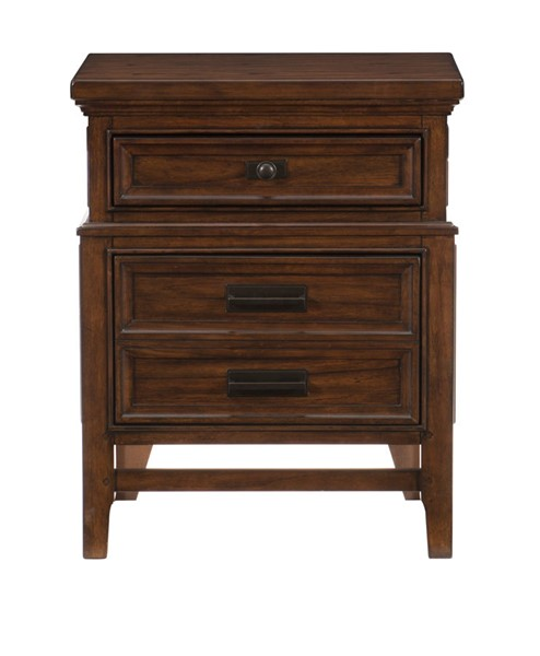 Home Elegance Frazier Park Dark Cherry Night Stand HE-1649-4