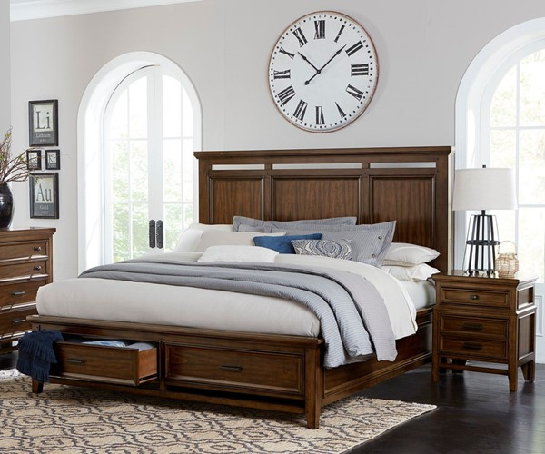 Home Elegance Frazier Park Dark Cherry 2pc Bedroom Set with King Bed HE-1649-BR-S2