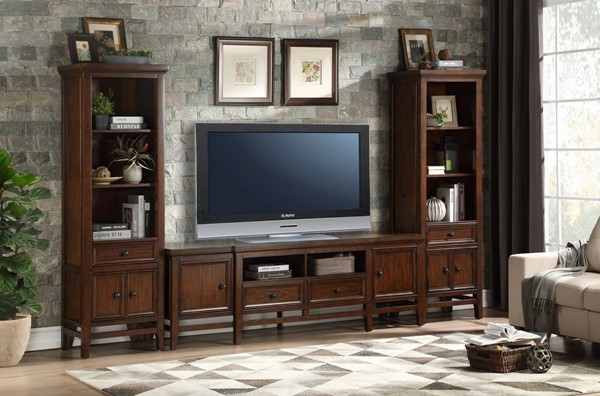 Home Elegance Frazier Park Entertainment Center with 81 Inch TV Stand HE-16490-81-ENT-S1