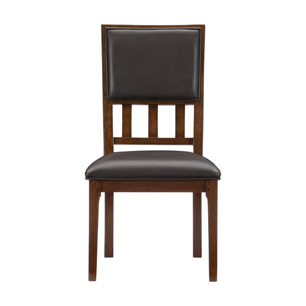 2 Home Elegance Frazier Park Dark Cherry Brown Side Chairs HE-1649S
