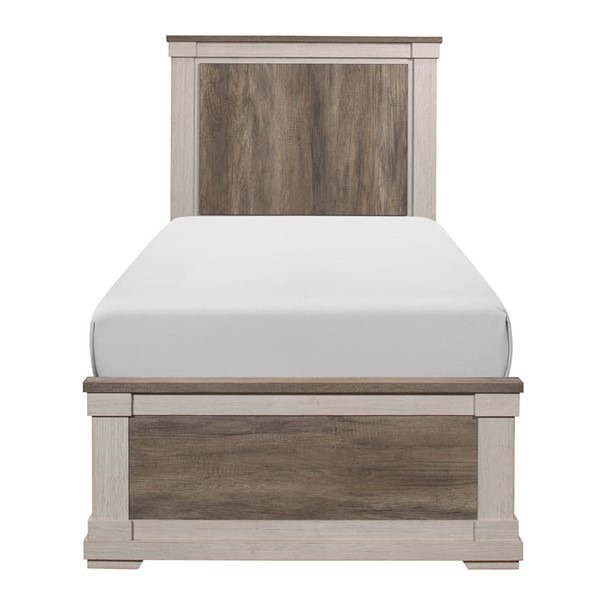 Home Elegance Arcadia White Weathered Gray Twin Bed HE-1677T-1