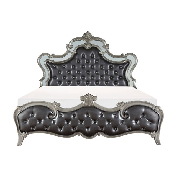 Home Elegance Brigette Silver Gray Beds HE-1681-BEDS