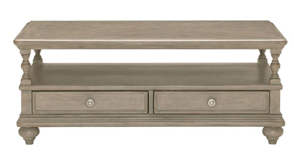 Home Elegance Grayling Downs Driftwood Gray Cocktail Table HE-1688-30