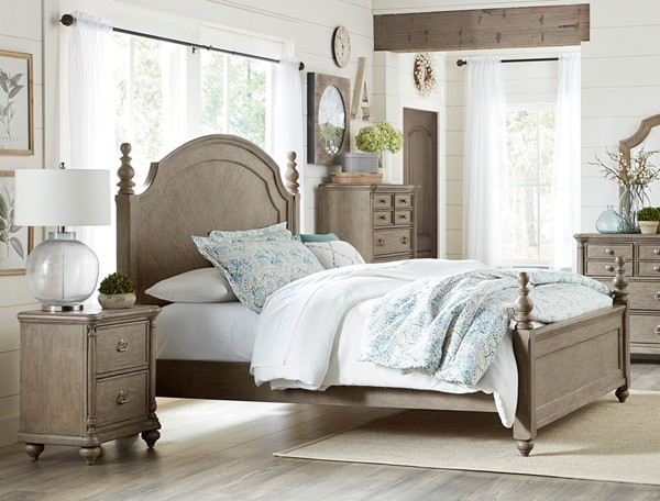 Home Elegance Grayling Downs Gray 2pc Bedroom Set with Queen Bed HE-1688-BR-S1