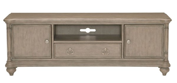Home Elegance Grayling Downs Driftwood Gray 63 Inch TV Stand HE-16880-63T