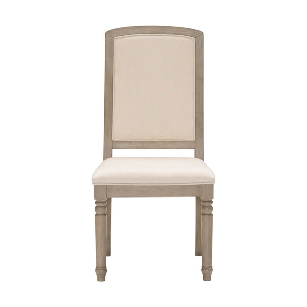 2 Home Elegance Grayling Downs Gray Side Chairs HE-1688S