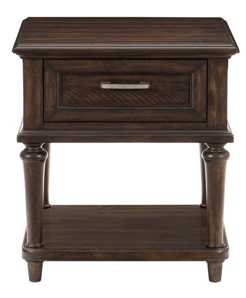 Home Elegance Cardano Driftwood Dark Brown End Table HE-1689-04