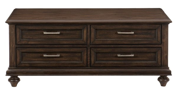 Home Elegance Cardano Driftwood Dark Brown Cocktail Table HE-1689-30