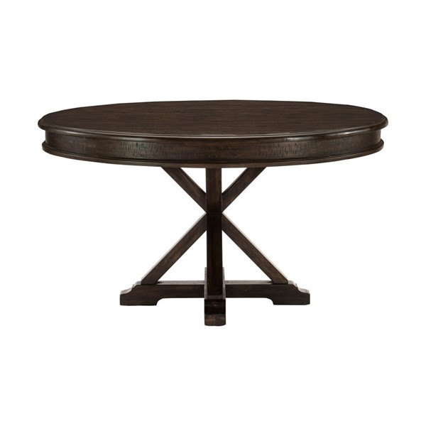 Home Elegance Cardano Dark Brown Round Dining Table HE-1689-54