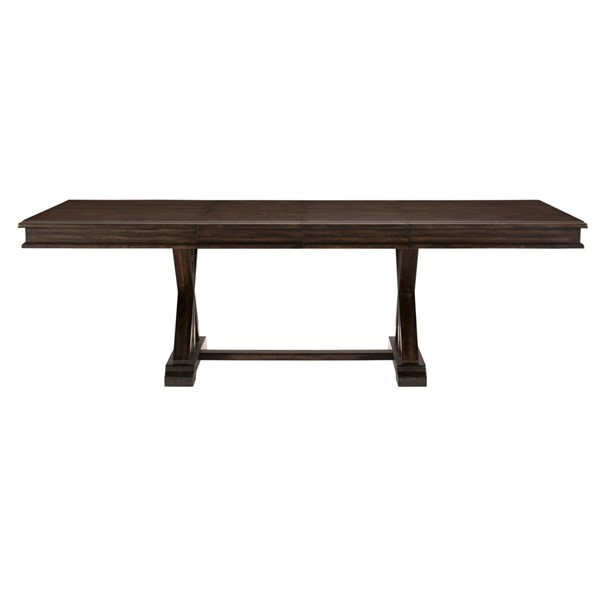 Home Elegance Cardano Dark Brown Trestle Dining Table HE-1689-96