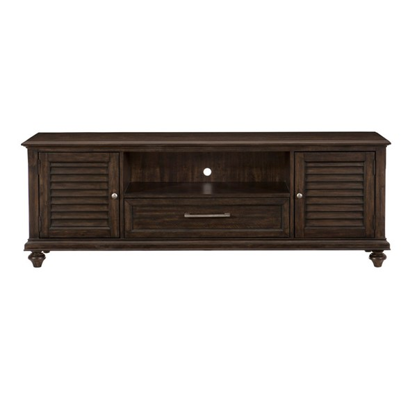 Home Elegance Cardano Driftwood Dark Brown 72 Inch TV Stand HE-16890-72T