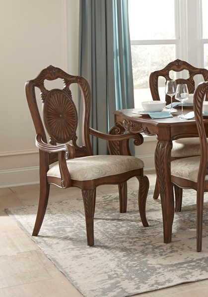 2 Home Elegance Moorewood Park Neutral Arm Chairs HE-1704A