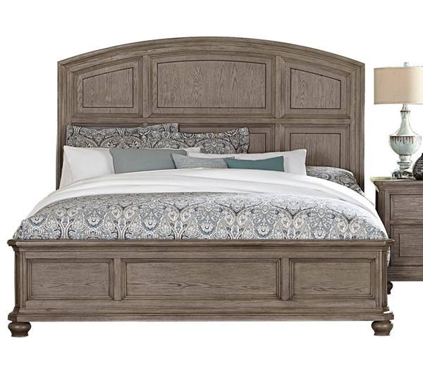 Home Elegance Lavonia Gray Wire Brushed Queen Bed HE-1707-1