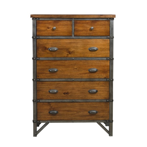 Home Elegance Holverson Rustic Brown Chest HE-1715-9