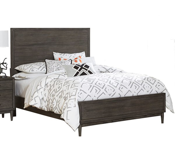 Home Elegance Norhill Wire Brushed Gray King Panel Bed HE-1727KN-1EK