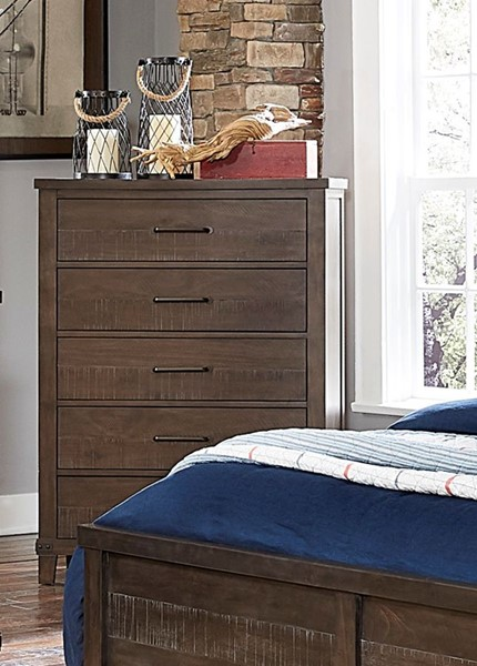 Home Elegance Hill Creek Rustic Brown Chest HE-1728-9