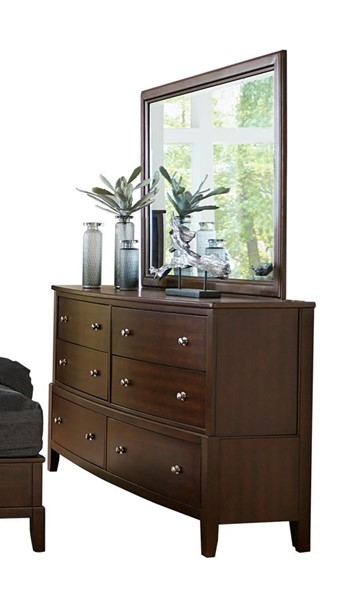 Home Elegance Cotterill Cherry Dresser and Mirror HE-1730-DRMR