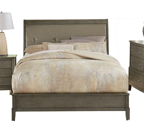 Home Elegance Cotterill Gray Queen Sleigh Bed HE-1730GY-1