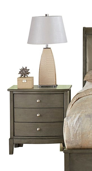 Home Elegance Cotterill Gray Night Stand HE-1730GY-4