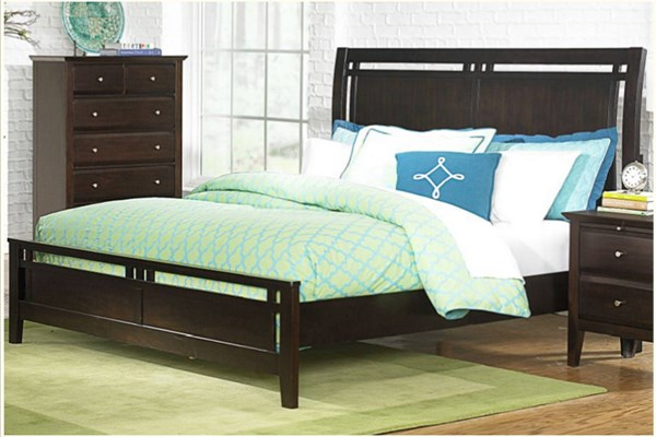 Verano Transitional Rich Espresso Wood King Bed HE-1733K-1EK
