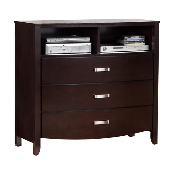 Home Elegance Lyric Espresso TV Chest HE-1737NC-11
