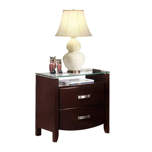 Home Elegance Lyric Espresso Night Stand HE-1737NC-4