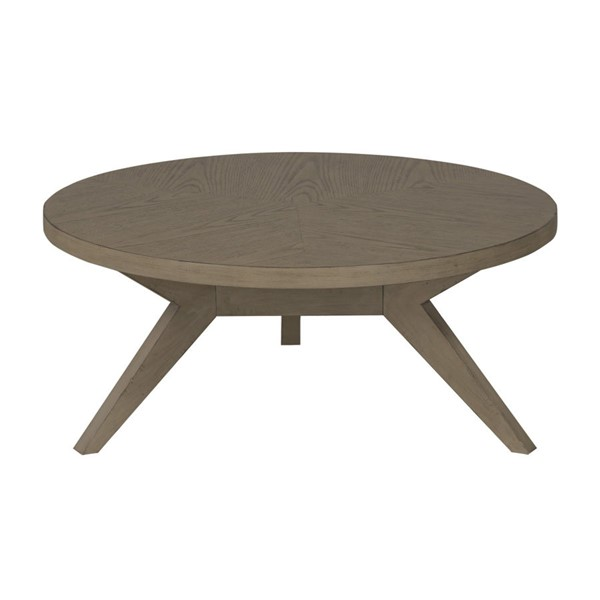 Home Elegance Liatris Gray Round Cocktail Table HE-1744-01
