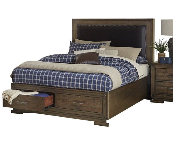 Home Elegance Griffon Antique Brown King Bed HE-1752K-1EK