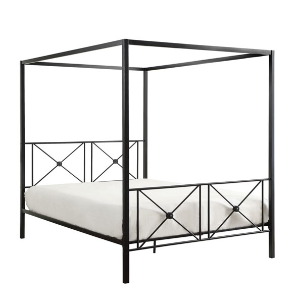 Home Elegance Rapa Queen Canopy Square Post Metal Bed HE-1759-1