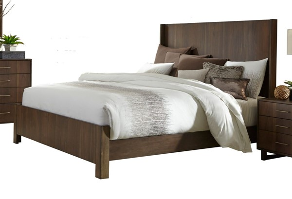 Home Elegance Gulfton Walnut Queen Bed HE-1779-1