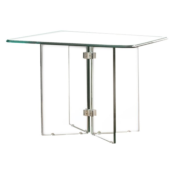 Home Elegance Alouette End Table with All Glass HE-17807