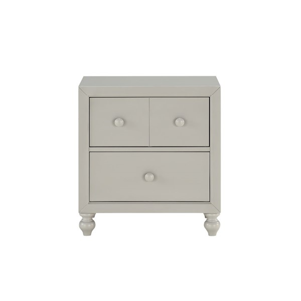 Home Elegance Wellsummer Gray Night Stand HE-1803GY-4