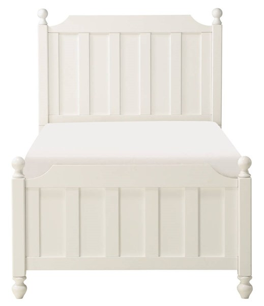 Home Elegance Wellsummer White Twin Bed HE-1803WT-1