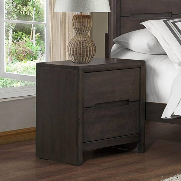 Lavinia Contemporary Weathered Grey Wood Night Stand HE-1806-4