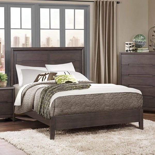 Lavinia Contemporary Weathered Grey Wood Beds HE-1806-BEDS