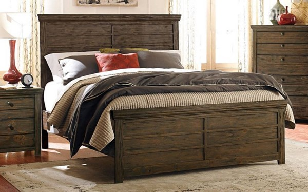 Hardwin Rustic Brown Wood Queen Bed HE-1809-1