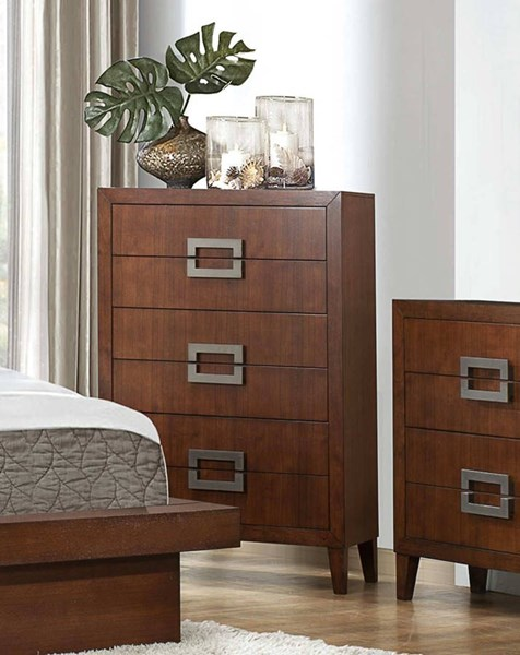 Arata Contemporary Cappuccino Brown Wood Chest HE-1817-9