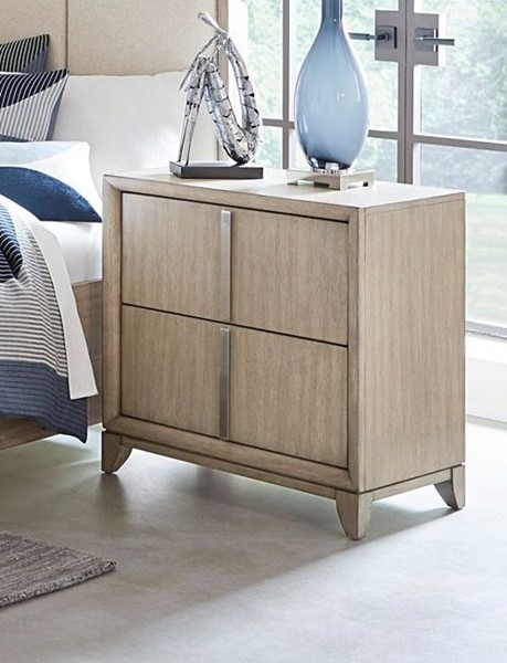 Home Elegance Mckewen Light Gray USB Charger Night Stand HE-1820-4