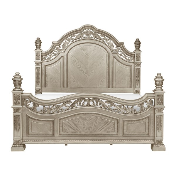 Home Elegance Catalonia Platinum Gold Queen Bed HE-1824PG-1
