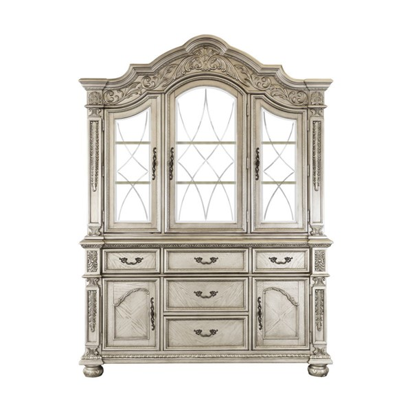 Home Elegance Catalonia Platinum Gold Buffet and Hutch HE-1824PG-50