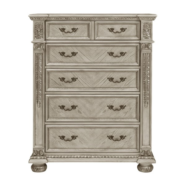 Home Elegance Catalonia Platinum Gold Chest HE-1824PG-9