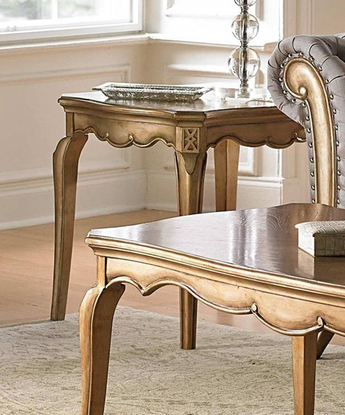 Home Elegance Chambord Gold End Table HE-1828-04
