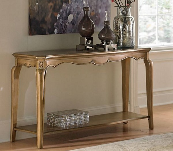 Chambord Modern Champagne Gold Wood Sofa Table HE-1828-05