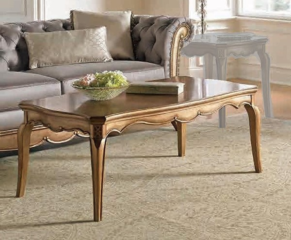Home Elegance Chambord Gold Cocktail Table HE-1828-30