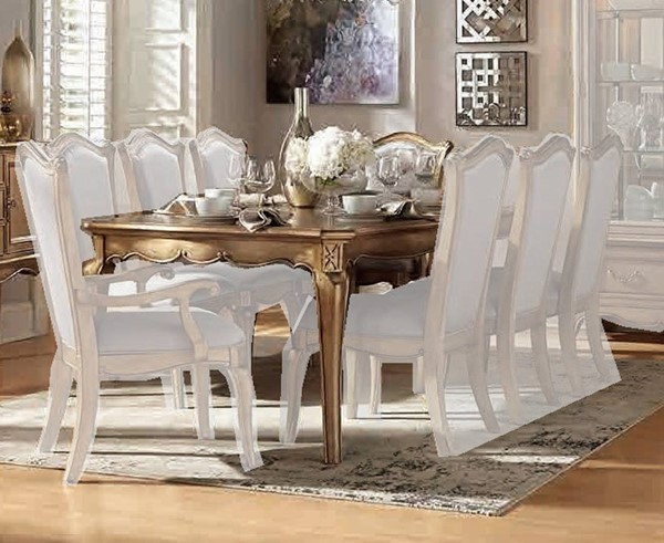 Home Elegance Chambord Gold Dining Table HE-1828-92