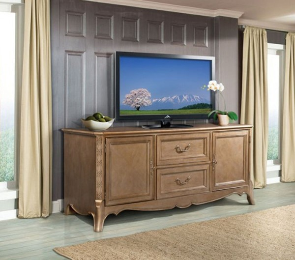 Home Elegance Chambord Gold 72 Inch TV Stand HE-18280-T
