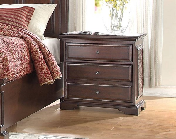 Cranfills Traditional Cherry Wood Night Stand HE-1832-4