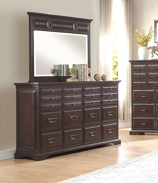 Cranfills Traditional Cherry Wood Dresser HE-1832-5