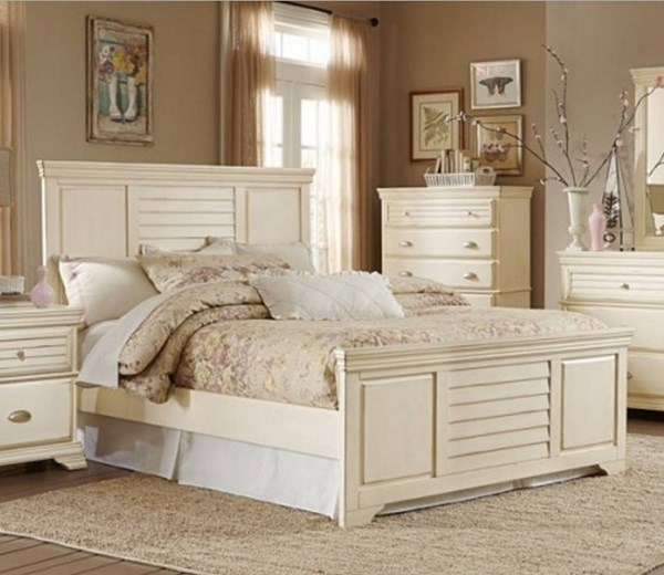 Laurinda Cottage Antique White Wood Beds HE-1846-BEDS