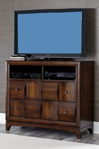 Porter Contemporary Warm Walnut Wood TV Chest HE-1852-11